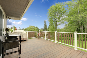 Backyard deck installation in Naperville